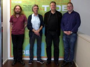 v.l.n.r.: Sunder Martin, Prof. Dr. Ulrich Kutschera, Thomas Brandenburg, Fabian Krahe